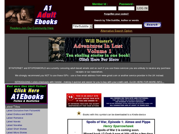 A1 Adult Ebooks Pay Using