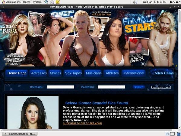 Sign Up For Female Stars