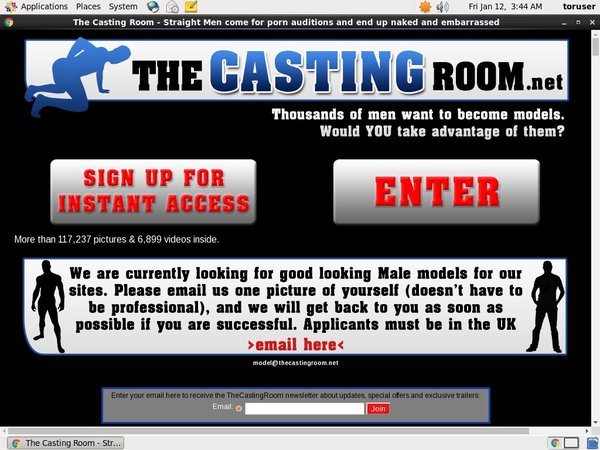 The Casting Room Initiation