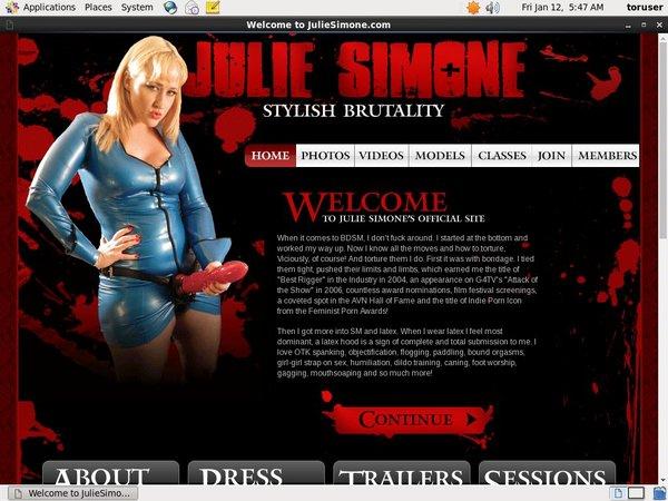 Juliesimone.com Daily Accounts