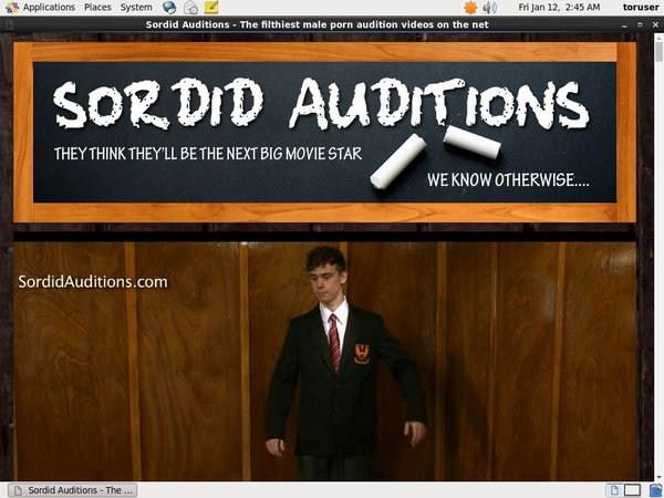Sordid Auditions Snot