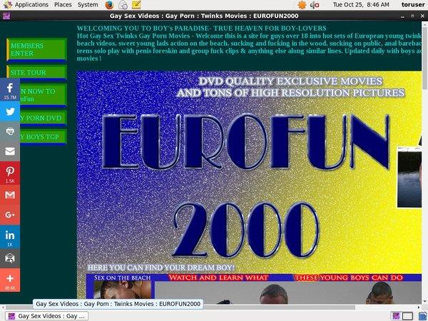 Eurofun2000 Contraseña
